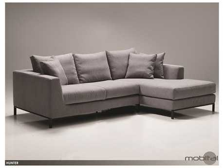 Mobital Hunter Grey Fabric Sectional Right Chaise