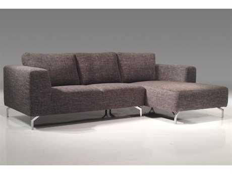Mobital Umi Grey Right-Facing Sectional Sofa