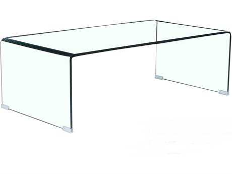 Mobital Glacier Rectangular Clear 43 x 22 Coffee Table
