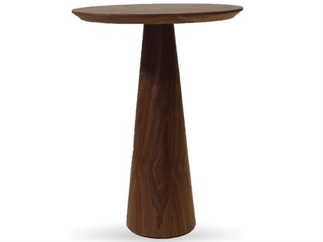 Mobital Tower 18 Round Walnut Tall End Table