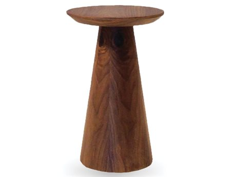 Mobital Tower 10 Round Walnut Low End Table