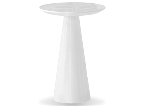 Mobital Tower 18 Round White Tall End Table