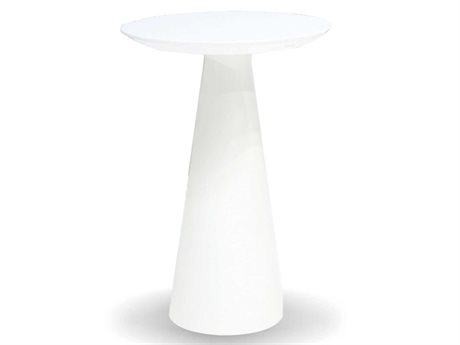 Mobital Tower 14 Round White Medium End Table