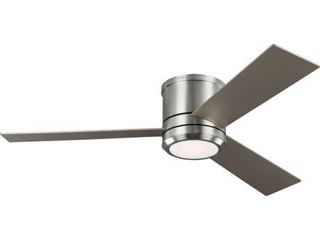 Monte Carlo Fans Clarity Max Brushed Steel 56'' Wide LED Indoor/Outdoor Ceiling Fan