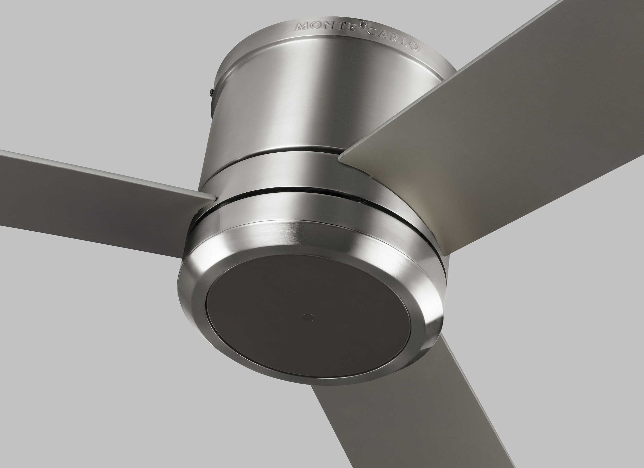Monte Carlo Fans Clarity Max Brushed Steel 56 Wide Led