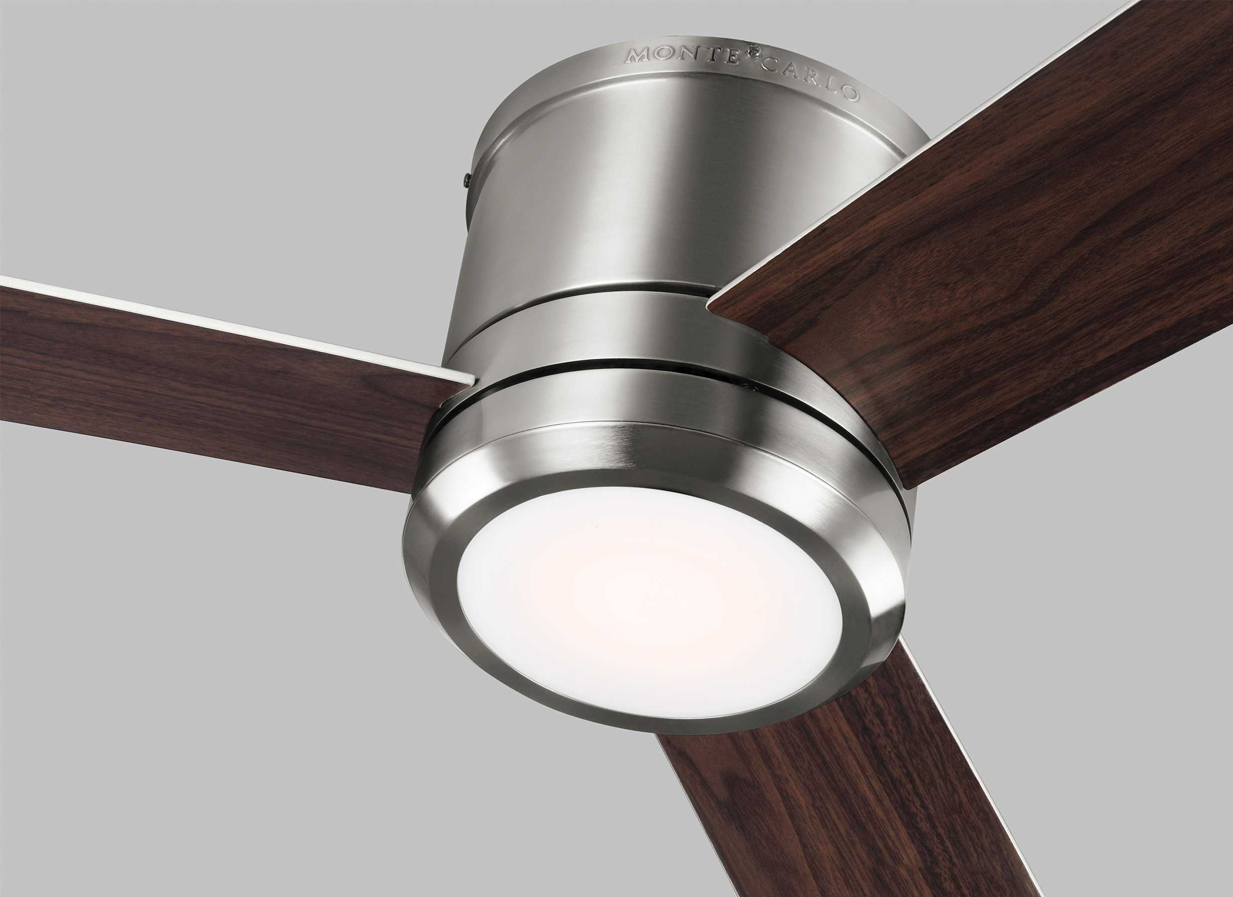Monte Carlo Fans Clarity Max Brushed Steel 56 Wide LED Indoor