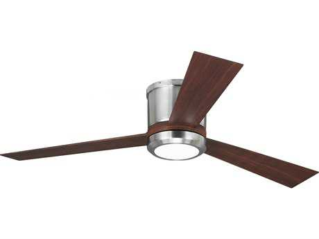 Monte Carlo Fans Clarity Brushed Steel 52'' Wide Indoor Ceiling Fan with LED Light