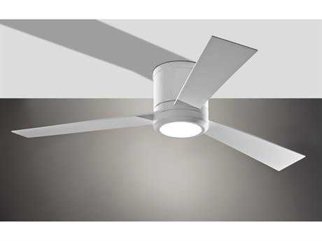 Monte Carlo Fans Clarity Rubberized White 52'' Wide Indoor Ceiling Fan with LED Light
