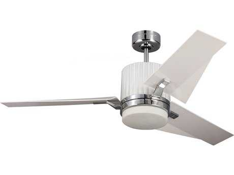 Monte Carlo Fans Ken Chrome 52'' Wide Indoor Ceiling Fan with LED Light