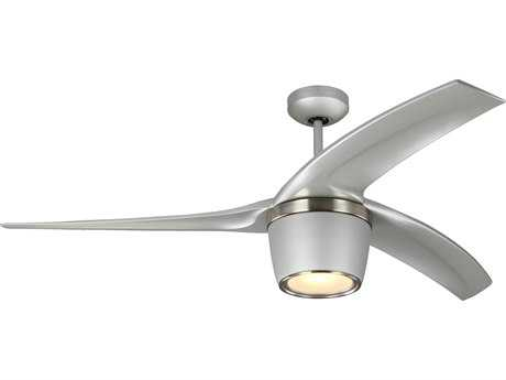 Monte Carlo Fans Skylon Grey 56'' Wide Indoor/Outdoor Ceiling Fan with LED Light
