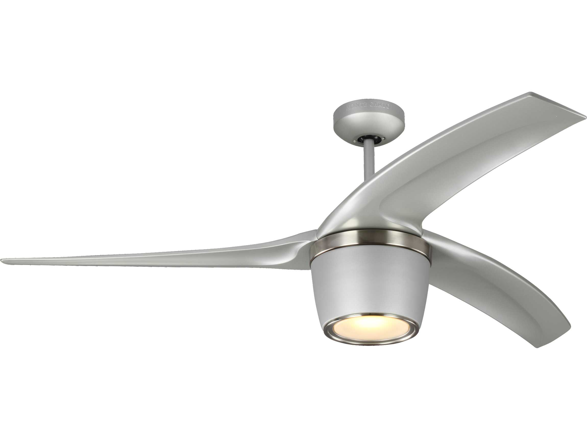 Monte Carlo Fans Skylon Grey 56 Wide Indoor Outdoor Ceiling Fan With Led