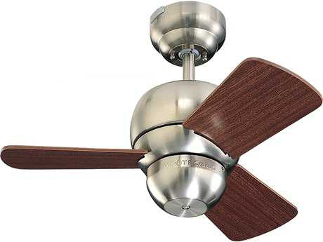 Monte Carlo Fans Micro Brushed Steel 24'' Wide Indoor Ceiling Fan