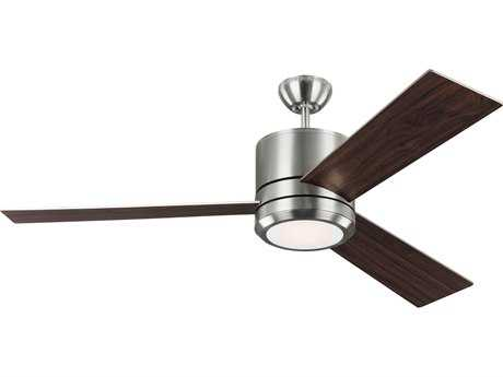 Monte Carlo Fans Vision Max Brushed Steel 56'' Wide LED Indoor/Outdoor Ceiling Fan