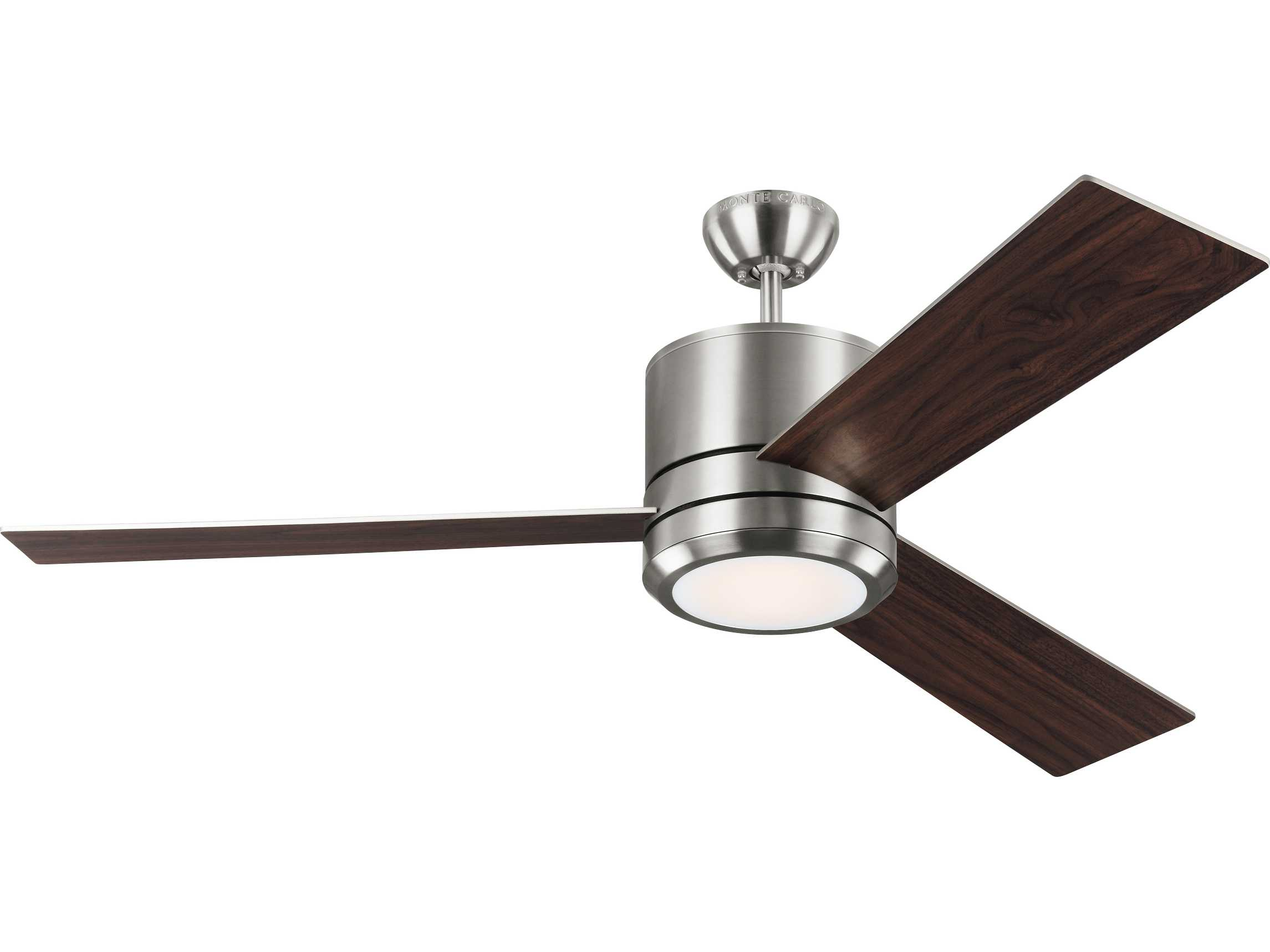 Monte Carlo Fans Vision Max Brushed Steel 56 Wide Led Indoor Outdoor Ceiling