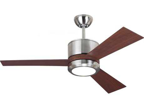 Monte Carlo Fans Vision II Brushed Steel 42'' Wide Indoor Ceiling Fan with LED Light