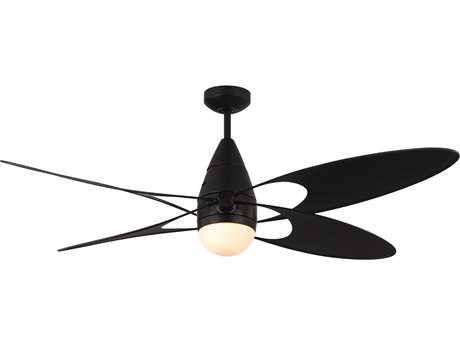 Monte Carlo Fans Butterfly Matte Black 54'' Wide Indoor Ceiling Fan with Light