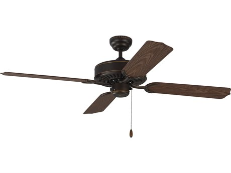 Monte Carlo Fans Tucker Roman Bronze 52'' Wide Outdoor Ceiling Fan with American Walnut Blades