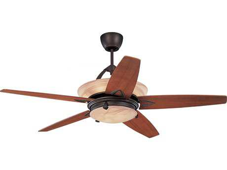 Monte Carlo Fans Arch Roman Bronze 60'' Wide Indoor Ceiling Fan with Light