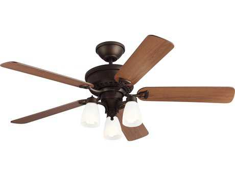 Monte Carlo Fans Bravo English Bronze 52'' Wide Indoor Ceiling Fan with Light
