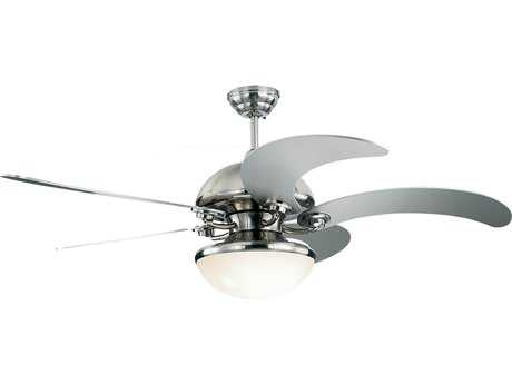Monte Carlo Fans Centrifica Brushed Steel 52'' Wide Indoor Ceiling Fan with Light