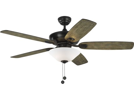 Monte Carlo Fans Colony Max Plus Aged Pewter Three-Light 52'' Wide Indoor / Outdoor Ceiling Fan with Light Grey Weathered Oak Blades