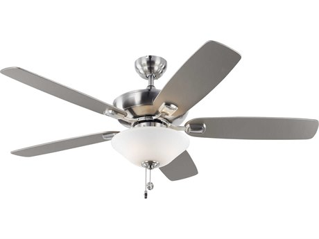 Monte Carlo Fans Colony Max Plus Brushed Steel Three-Light 52'' Wide Indoor/Outdoor Ceiling Fan MCF5COM52BSD