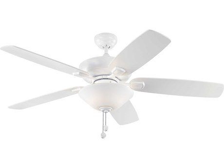 Monte Carlo Fans Colony Max Plus Rubberized White Three-Light 52'' Wide Indoor/Outdoor Ceiling Fan MCF5COM52RZWD