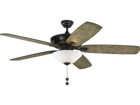Monte Carlo Fans Colony Super Max Plus Aged Pewter Three-Light 60'' Wide Indoor / Outdoor Ceiling Fan with Light Grey Weathered Oak Blades MCF5CSM60AGPD