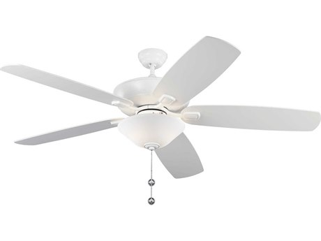 Monte Carlo Fans Colony Super Max Plus Matte White Three-Light 60'' Wide Indoor/Outdoor Ceiling Fan MCF5CSM60RZWD