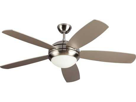 Monte Carlo Fans Discus ES Brushed Steel 52'' Wide Indoor Ceiling Fan with Light