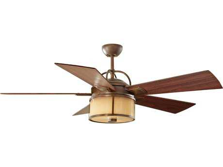 Monte Carlo Fans Dakota Heritage Bronze 52'' Wide Outdoor Ceiling Fan with Light