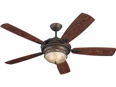 Monte Carlo Fans Drawing Room Roman Bronze 56'' Wide Outdoor Ceiling Fan with Light