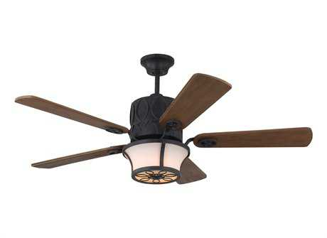 Monte Carlo Fans Grafton Antique Forged Iron Three-Light 52'' Wide Indoor Ceiling Fan
