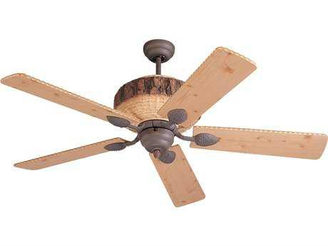 Monte Carlo Fans Great Lodge Weathered Iron 52'' Wide Indoor Ceiling Fan