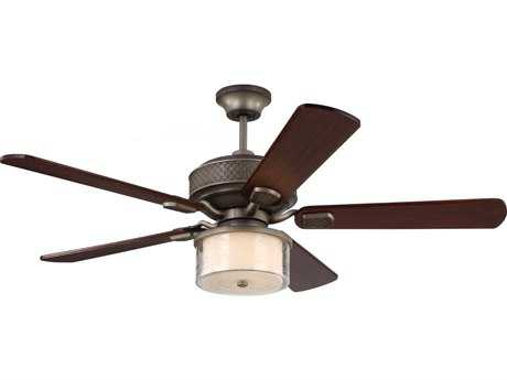 Monte Carlo Fans Hillsborough Aged Pewter 54'' Wide Indoor Ceiling Fan