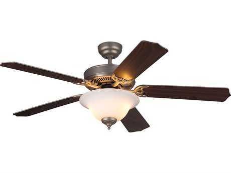 Monte Carlo Fans Homeowner Max Plus Brushed Pewter 52'' Wide Indoor Ceiling Fan with Light