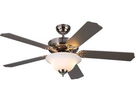 Monte Carlo Fans Homeowner Max Plus Brushed Steel 52'' Wide Indoor Ceiling Fan with Light