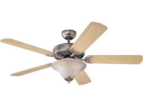 Monte Carlo Fans Homeowners Deluxe Brushed Pewter 52'' Wide Indoor Ceiling Fan with Light