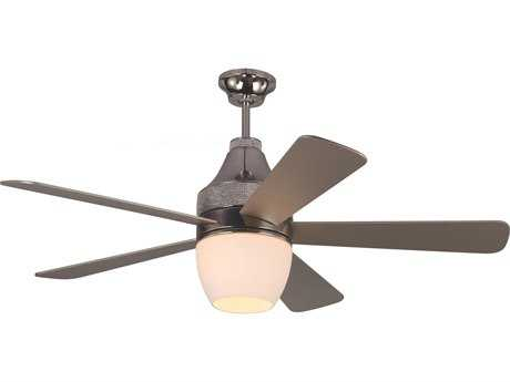 Monte Carlo Fans Nikki Polished Nickel 52'' Wide Indoor Ceiling Fan with LED Light