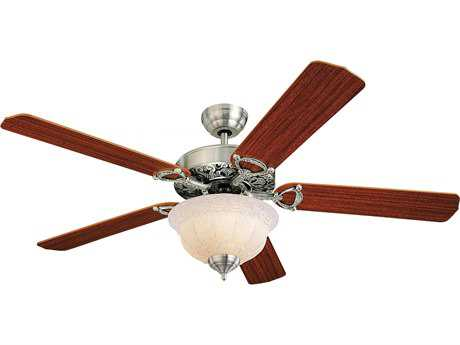 Monte Carlo Fans Ornate Elite English Pewter 52'' Wide Indoor Ceiling Fan with Light