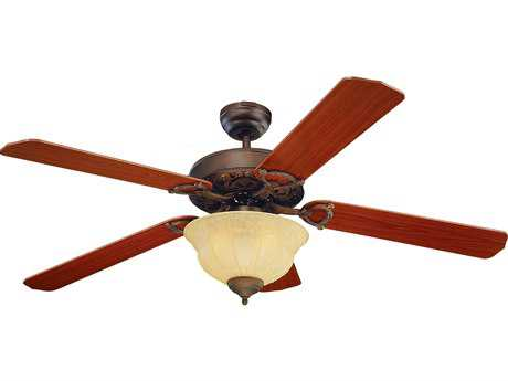 Monte Carlo Fans Ornate Elite Roman Bronze 52'' Wide Indoor Ceiling Fan with Light