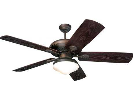 Monte Carlo Fans The Shores Roman Bronze 54'' Wide Indoor Ceiling Fan with Light