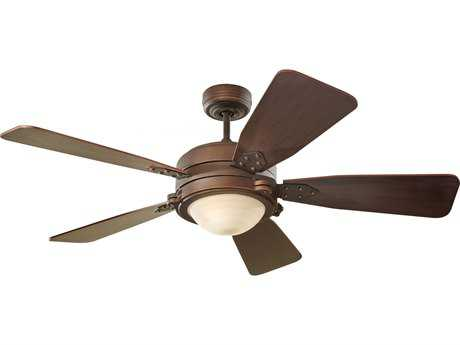 Monte Carlo Fans Vintage Industrial Roman Bronze 52'' Wide Indoor Ceiling Fan with Light
