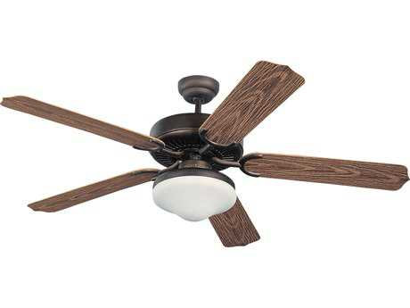 Monte Carlo Fans Weatherford Deluxe Roman Bronze 52'' Wide Outdoor Ceiling Fan with Light