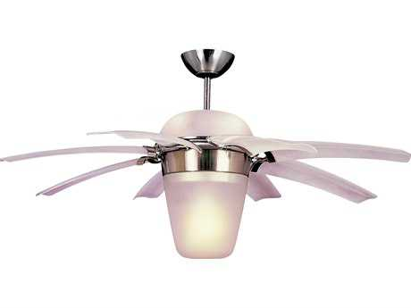 Monte Carlo Fans Airlift Brushed Steel 44'' Wide Indoor Ceiling Fan with Light