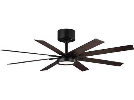 Monte Carlo Fans Empire Matte Black 60'' Wide Indoor Ceiling Fan with LED Light