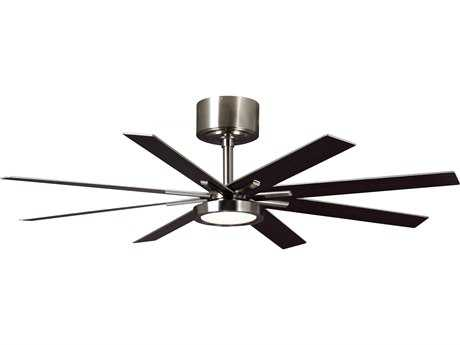 Monte Carlo Fans Empire Brushed Steel 60'' Wide Indoor Ceiling Fan with LED Light