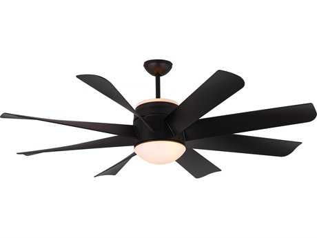 Monte Carlo Fans Turbine Matte Black 56'' Wide Indoor Ceiling Fan with Light