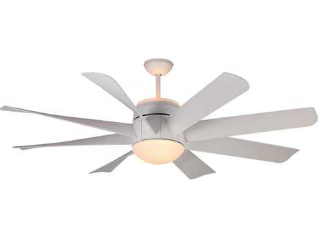Monte Carlo Fans Turbine Rubberized White 56'' Wide Indoor Ceiling Fan with Light