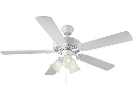 Monte Carlo Fans HomeBuilder III White 52'' Wide Indoor Ceiling Fan with Light